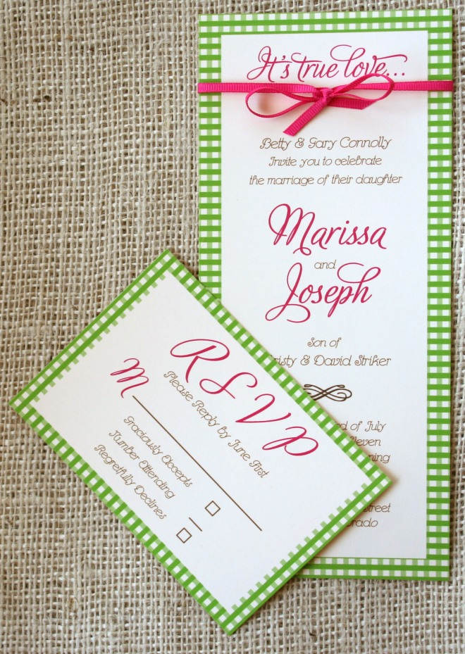 Gingham Invitation