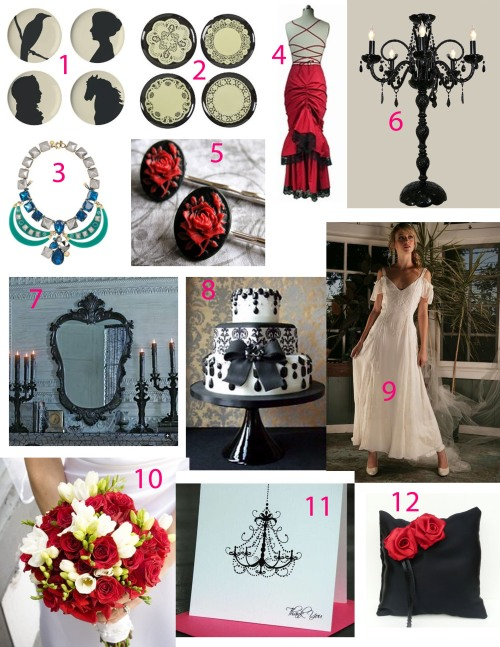 gothic inspiration for your wedding or party