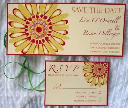 sunflower, bright and sunny invitation design