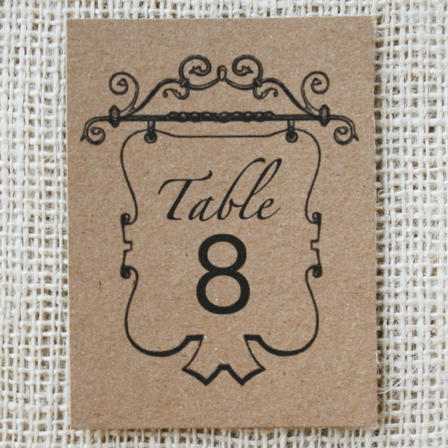 table numbers Vintage Recycled Vintage Table Numbers