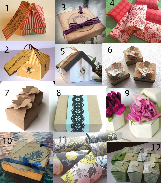 Creative Gift Boxes for Wedding or Party Favors