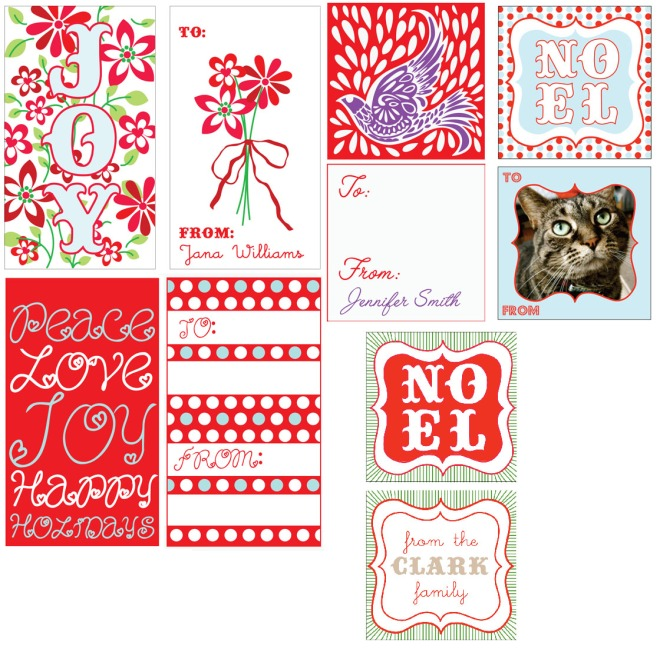 Minted gift tags