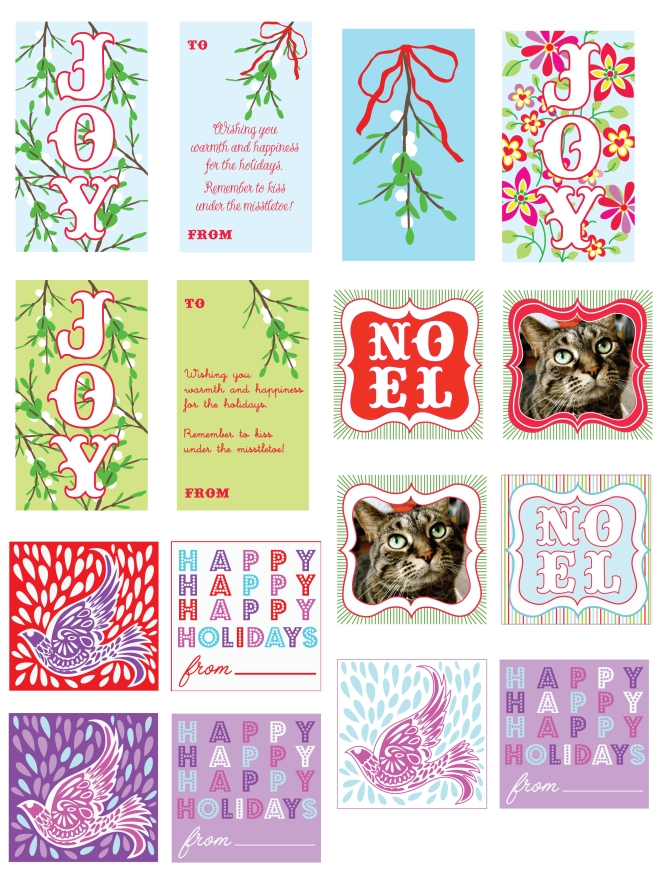 minted gift tags by Sofia Sayer