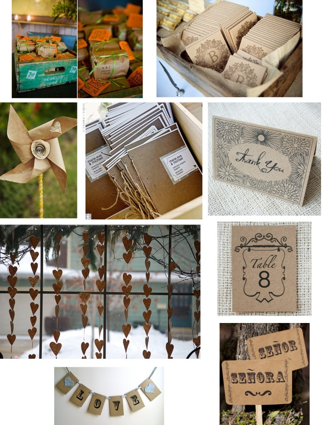 Kraft Paper Wedding Decorations