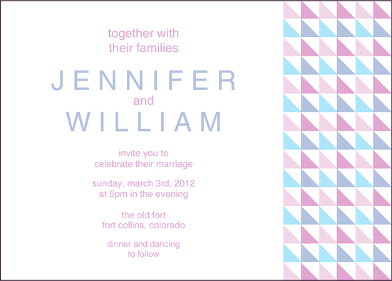 geometric invitation by Sofia Invitations and Prints