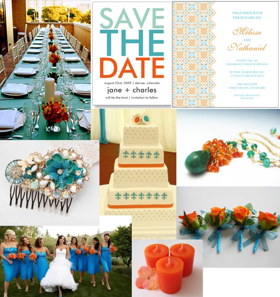 Turquoise And Orange Color Combination
