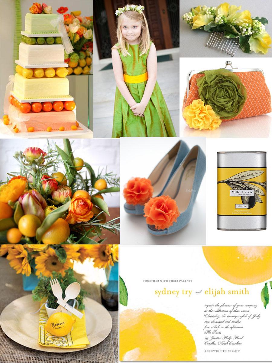 Citrus Color Wedding Inspiration: Orange, Yellow, Green – sofia ...