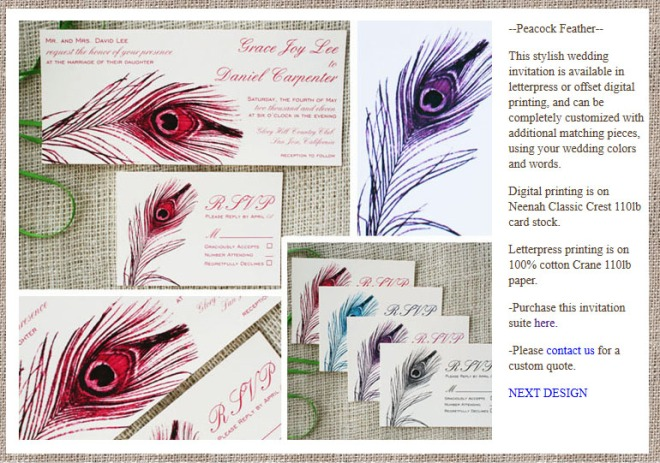 Sofia Invitations Website detail page