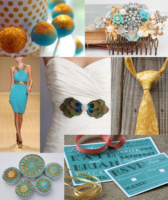 Turquoise and gold wedding inspiration sofia invitations for Turquoise gold wedding theme