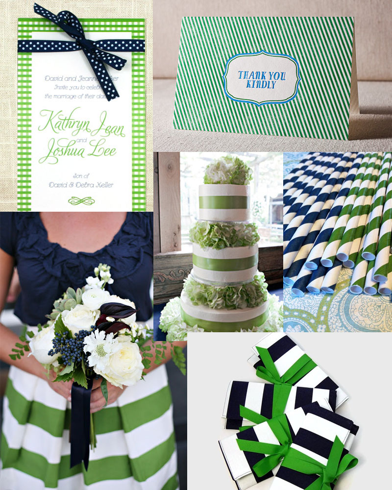 Navy and Kelly Green Wedding Inspiration – sofia invitations blog