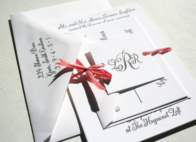 White Sofia Invitations Blog