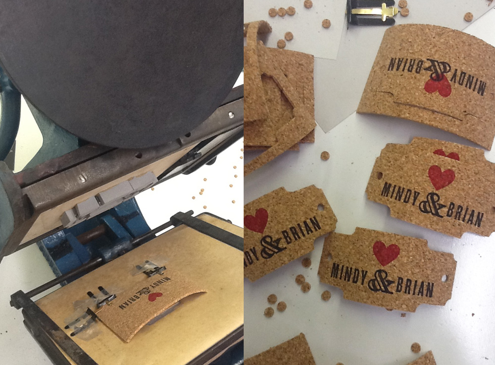 Die Cut Cork Tags for Wedding Invitation Suite – sofia invitations blog
