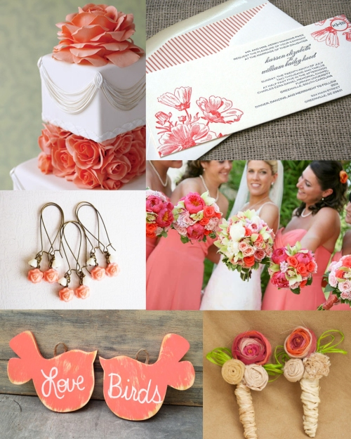 Rustic Vintage Coral Wedding Inspiration