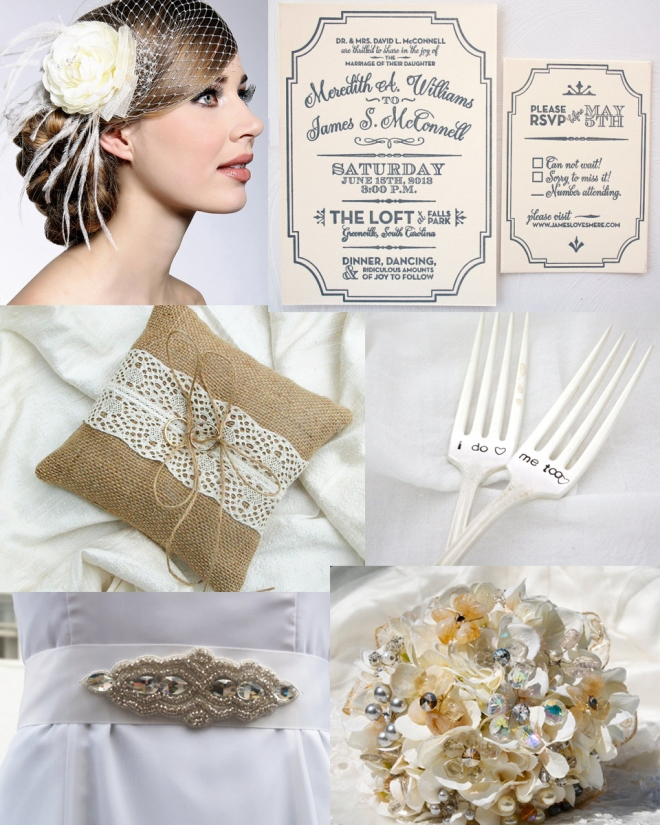 Cream_Silver_Vintage_Wedding