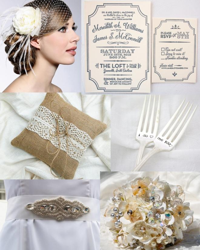 Cream_Silver_Vintage_Wedding