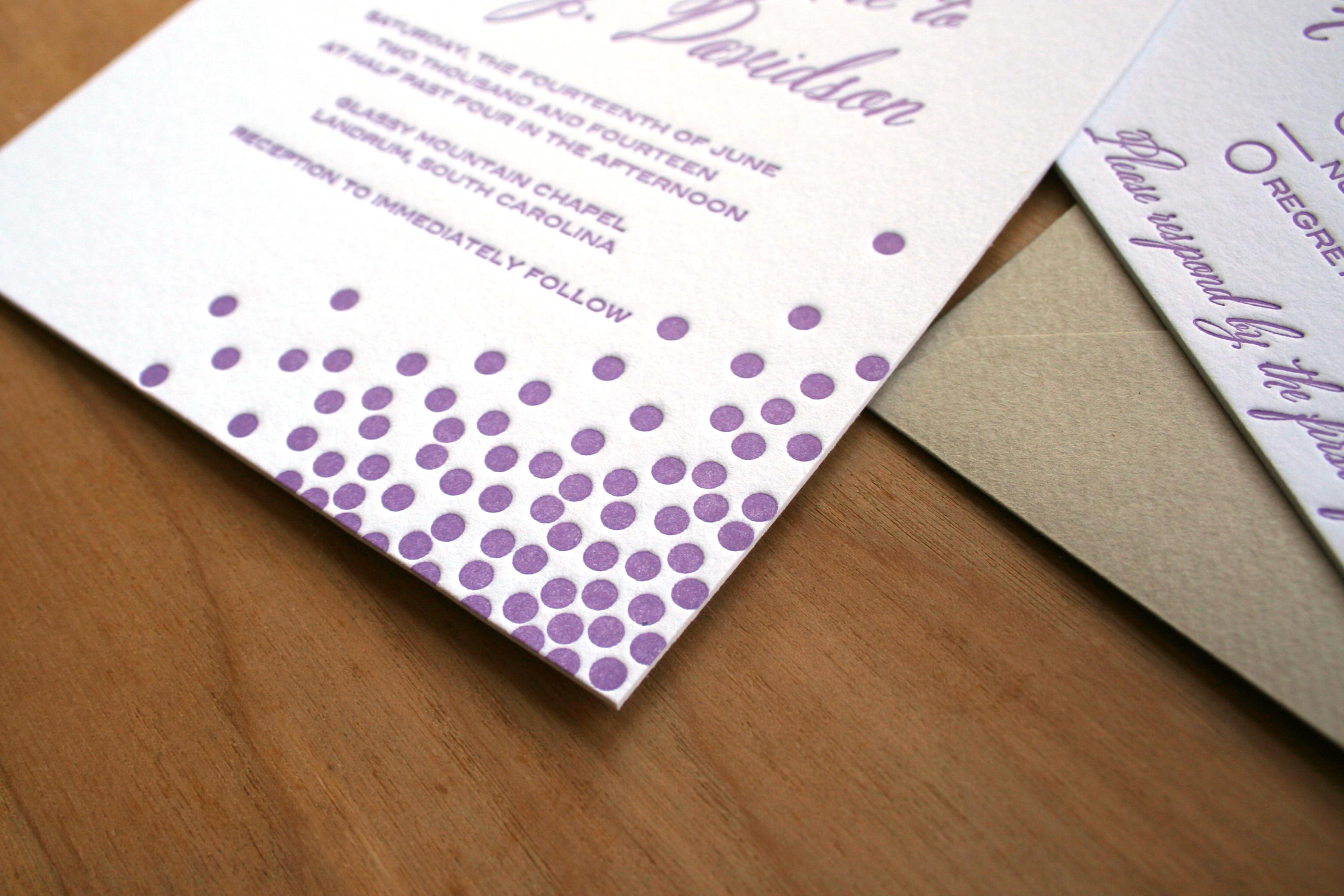 Letterpress Sofia Invitations Blog