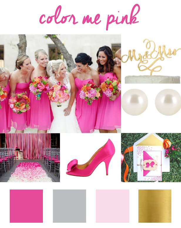 What Colors Go With Hot Pink hot pink wedding color inspiration – sofia invitations blog