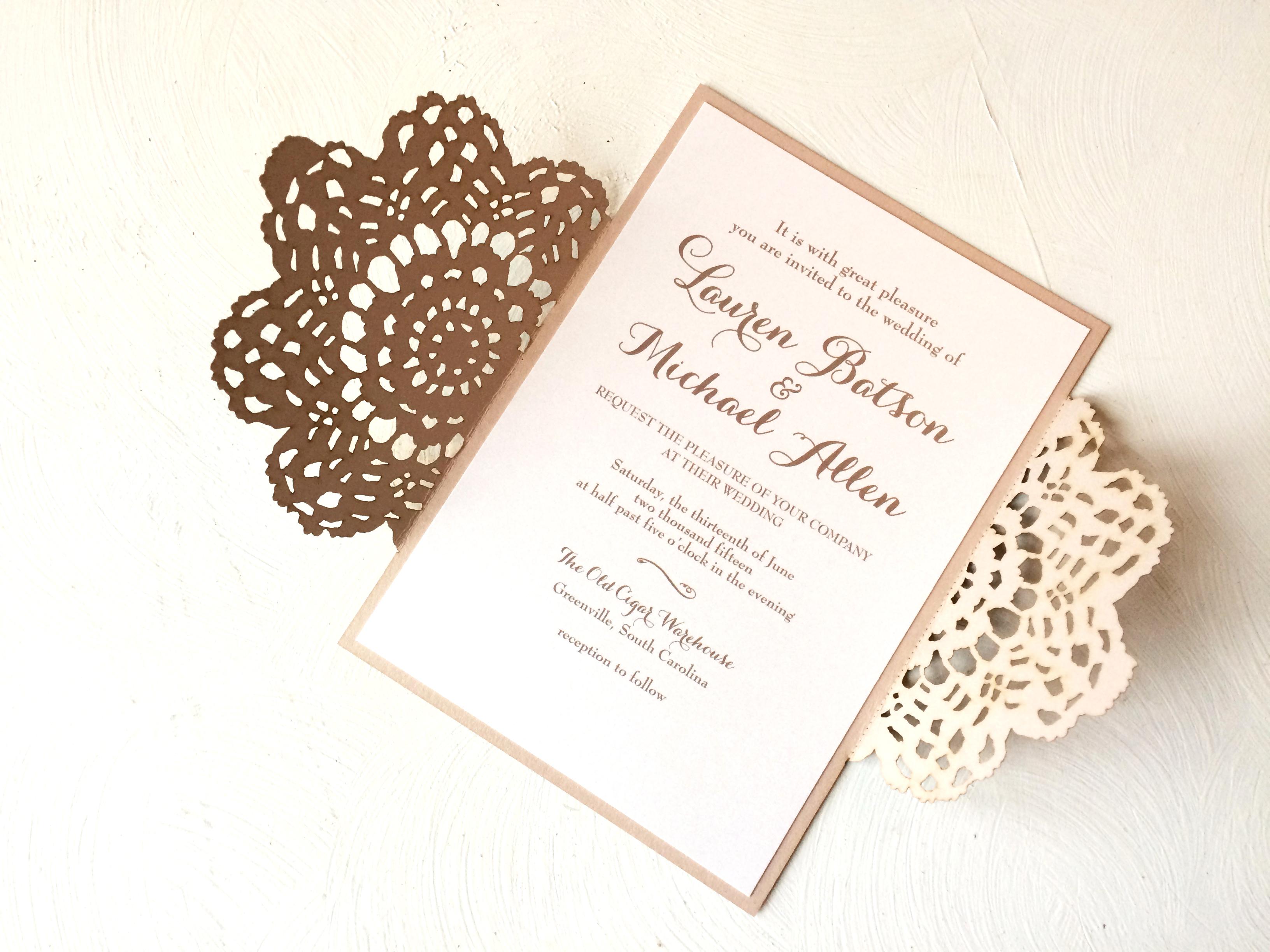 laser cut wedding invitation – sofia invitations blog