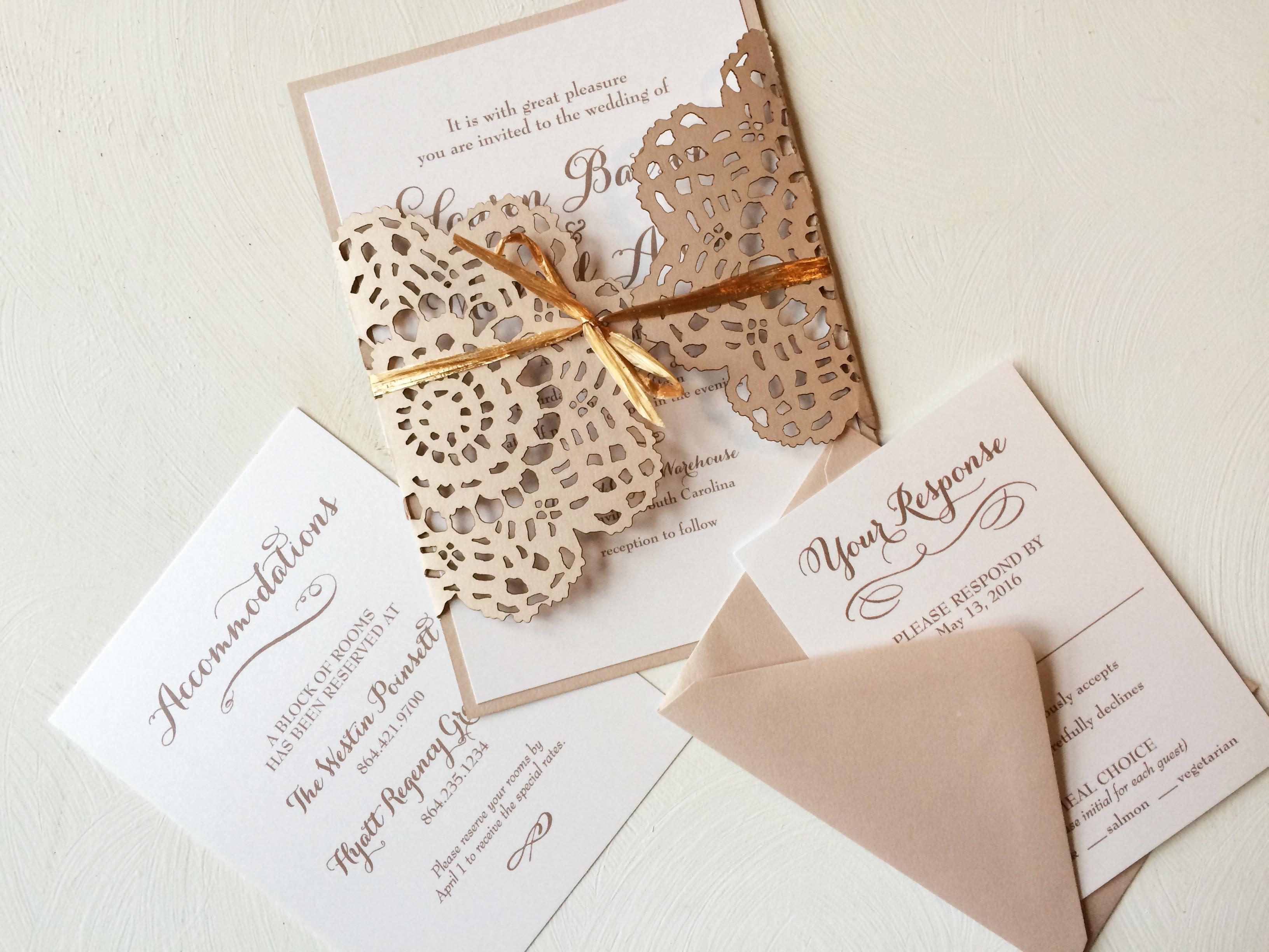 lace wedding invitation sofia invitations blog